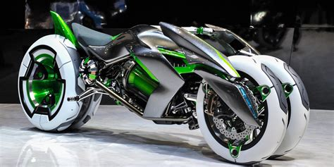 Futuristic Motorcyle : Kawasaki J Three Wheeler Ev Motorbike Looks Like A Tron