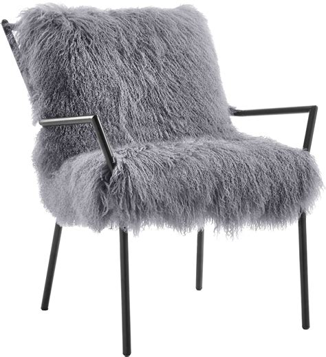 lena grey sheepskin chair from tov coleman furniture