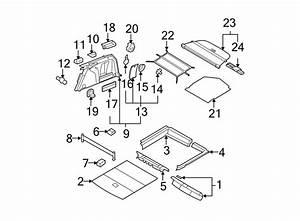 Volkswagen Passat Wagon Trunk Trim Panel Clip  Wagon  Beige  To 10  08  Fastener  Body  Side