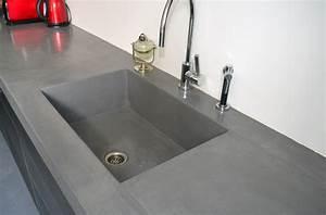 prix beton cire plan de travail cuisine 1 de cuisine en With prix beton cire plan de travail cuisine