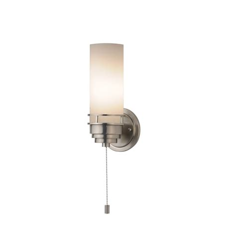 contemporary single light sconce  pull chain switch