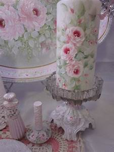 996 best images about one stroke on pinterest pink roses With what kind of paint to use on kitchen cabinets for candle pillar holders set of 3