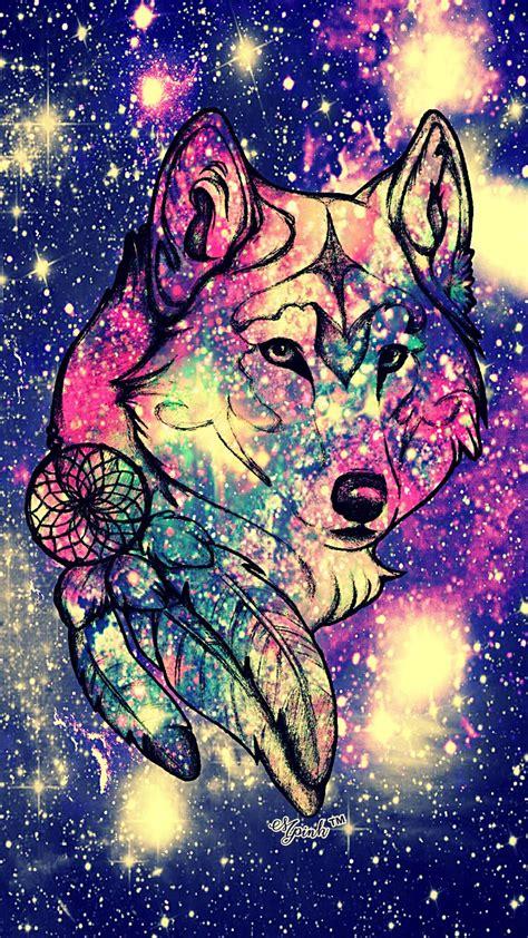 Galaxy Wolf Wallpaper Hd by She Wolf Galaxy Wallpaper Androidwallpaper