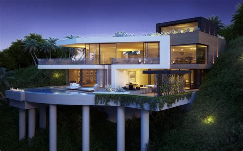 Home Design Ideas Architecture by Hillside Cantilevered Home Ideas Interior Design Ideas