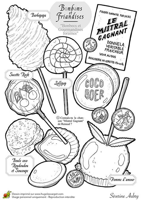 dictionnaire cuisine dessin à colorier bonbons et sucreries les bonbecs