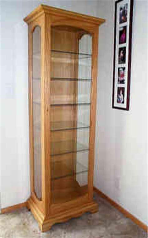 wood curio cabinet plans   build  easy diy