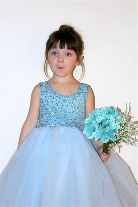 Light Blue Flower Girl Dress, Flower Girl Dress, Flower