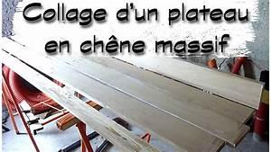 Plateau En Chene Massif : comment faire un plateau en ch ne massif collage a plat joint tutoriel ljvs youtube ~ Teatrodelosmanantiales.com Idées de Décoration