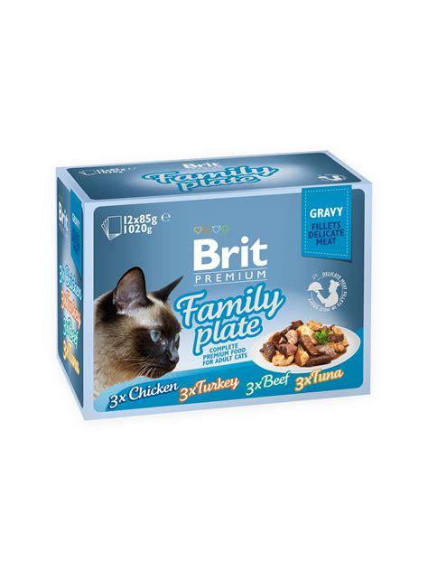 brit cuisine brit premium cat pouch family plate gravy krmivo brit