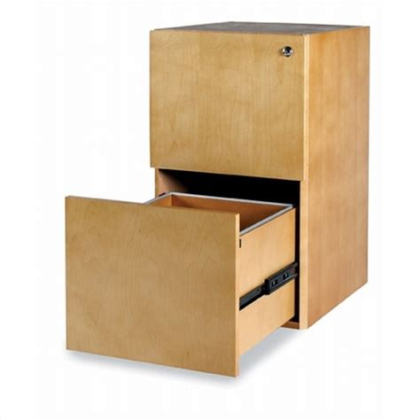 Desk With File Drawer by Mayline Luminary 2 Drawer Vertical Wood File Pedestal For