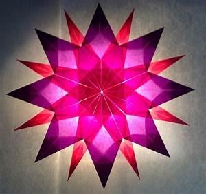 Sterne Aus Papier Falten : rosa lila stern 16 zacken sterne aus transparentpapier basteln ~ Buech-reservation.com Haus und Dekorationen