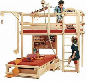 Bunk bed meets backyard play structure Bunk Bed Study