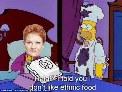 Pauline Hanson Memes - pauline hanson mocked about halal snack packs on facebook daily mail online