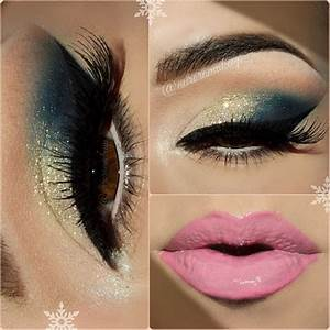 Gold Green Smokeye Eye Pink Lips | Make Up Ideas ...
