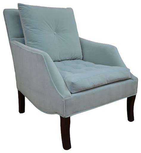 miley tufted chair light blue contemporary armchairs