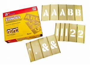 parking lot stencil kit interlocking numbers letters With stencil sets numbers letters