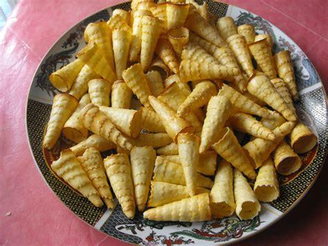 cuisine marocaine patisserie cornet au cacahuète et chocolat cuisine et pâtisserie