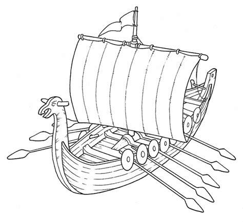 disegni da colorare  bambini nave vichinghi risorse