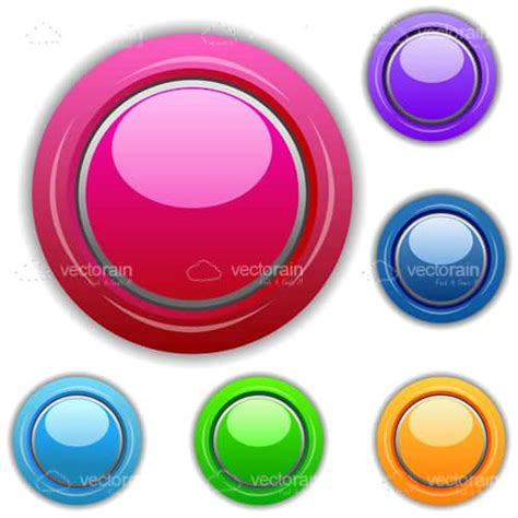 colorful icon pack colourful buttons icon pack vectorjunky free vectors