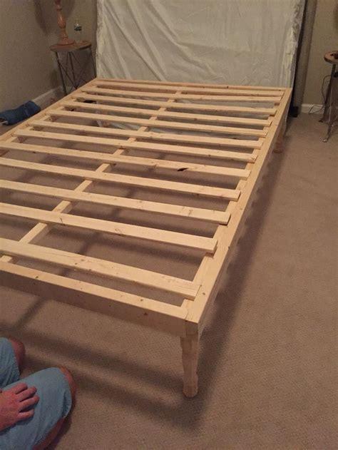 diy queen bed frame  queen mattress sides