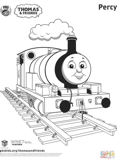 Kleurplaat Percy De Trein by Coloring Pages And Tv Coloring Pages