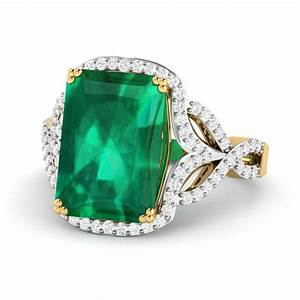 engagement ring diamond wedding ring emerald diamond With wedding rings gemstones