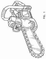 Chainsaw Drawing Chain Outline Getdrawings sketch template