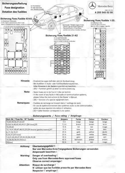 mercedes benz fuse box diagram