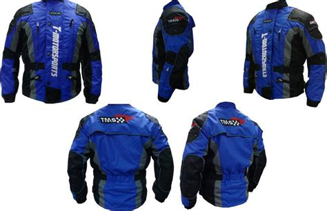 New Mens Blue Enduro Armor Jacket Motorcycle Touring Dual