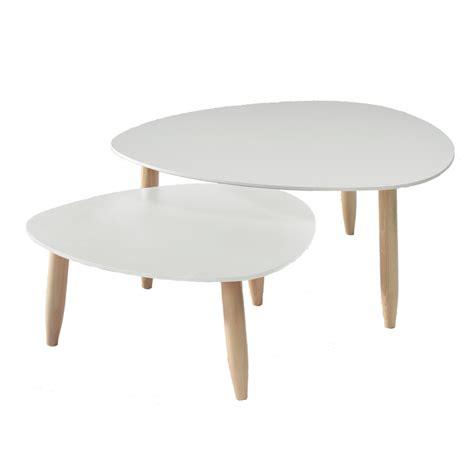 table basse gigogne table basse gigogne blanc et bois le bois chez vous