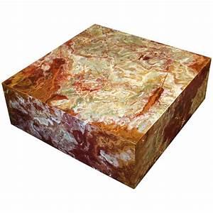 large custom made square onyx marble coffee table on With large square marble coffee table