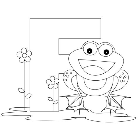 letter f coloring pages to and print for free