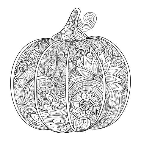 magnifique citrouille  halloween zentangle