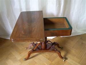 Biedermeier Spieltisch Mahagoni Antike Mbel Und