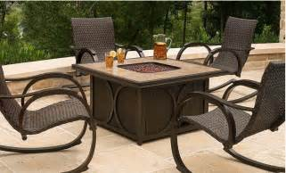 firepit table and chairs hanover aspencrk7pcfp aspen