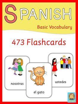 spanish flashcards basic vocabulary  images