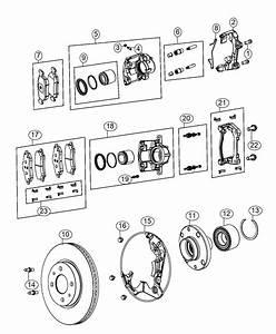 2016 Fiat 500c Caliper Assembly  Disc Brake  Front  Left
