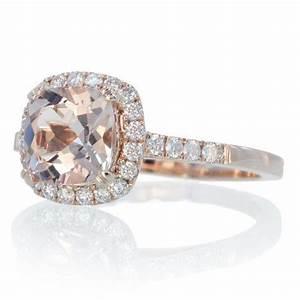 Cushion Cut Diamond: Rose Gold Cushion Cut Diamond Rings