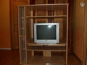 Meuble Tv Haut : meuble tv mural albajo coloris blanc et noir ~ Teatrodelosmanantiales.com Idées de Décoration
