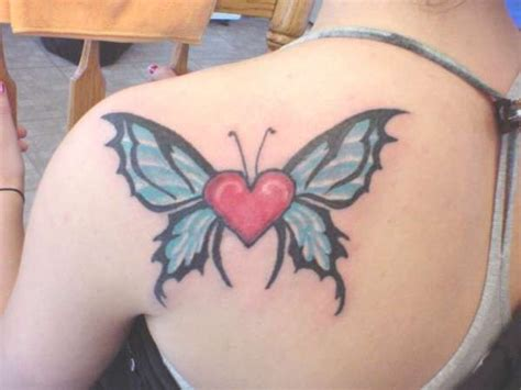 heart  butterfly wings tattoo tattoo styles