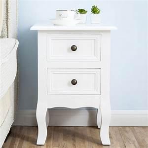 Nachttisch Schrank Weiß : uenjoy 2 x nachttisch wei kommode nachtschrank holz schrank mit 2 schubladen 613617443360 ebay ~ Indierocktalk.com Haus und Dekorationen