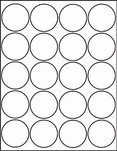 500 printable laser glossy white round stickers 2 inch With circle sticker sheets