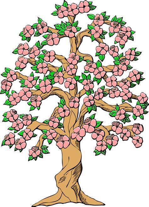 onlinelabels clip art flowering tree color