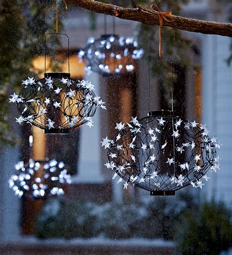 plow hearth solar lighted christmas balls review
