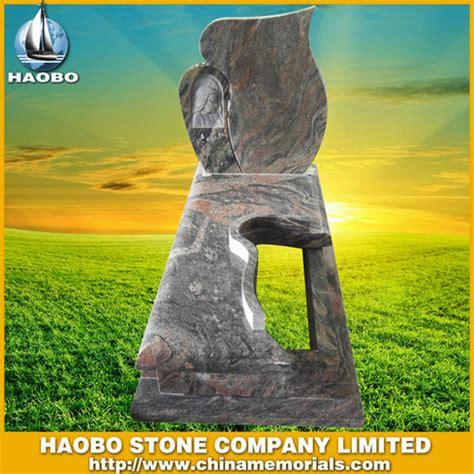 color painting headstone black granite headstone hbmit001