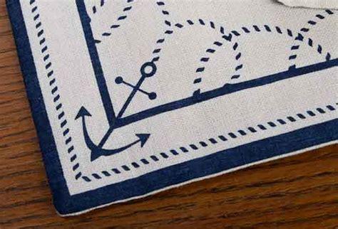 nautical border table runner coastal decor home decor