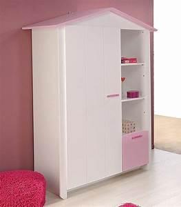 Kleiderschrank Für Mädchen : kleiderschrank wei rosa 112x181x60cm ~ Michelbontemps.com Haus und Dekorationen