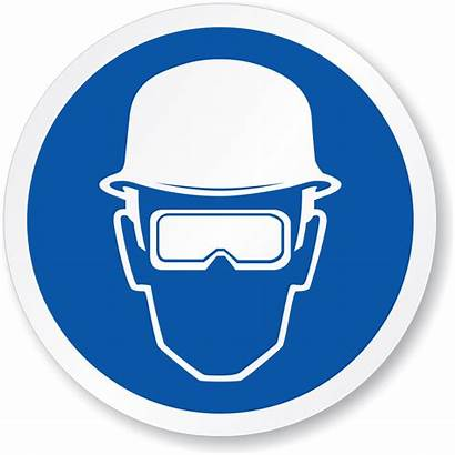 Protection Eye Head Mandatory Required Safety Symbol
