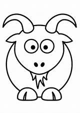 Goat Coloring Sheet Cartoon Couple Horn Printable Forkids Tincture Beard Ask Parentune sketch template