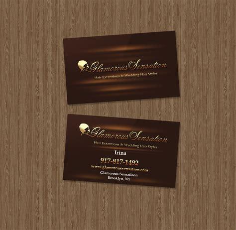 business card sample hair stylist studio sky